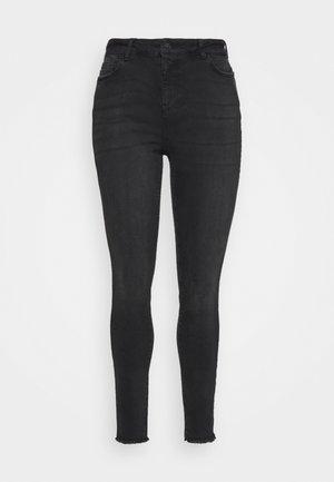VMHANNA RAW - Jeans Skinny Fit - black
