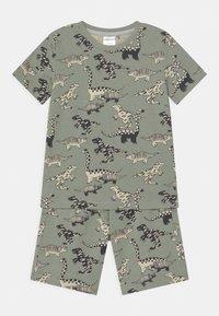 Lindex - MINI DINO 2 PACK - Pyjamas - khaki - 2