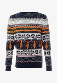 Knowledge Cotton Apparel - ONECK XMAS - Jumper - total eclipse - 3