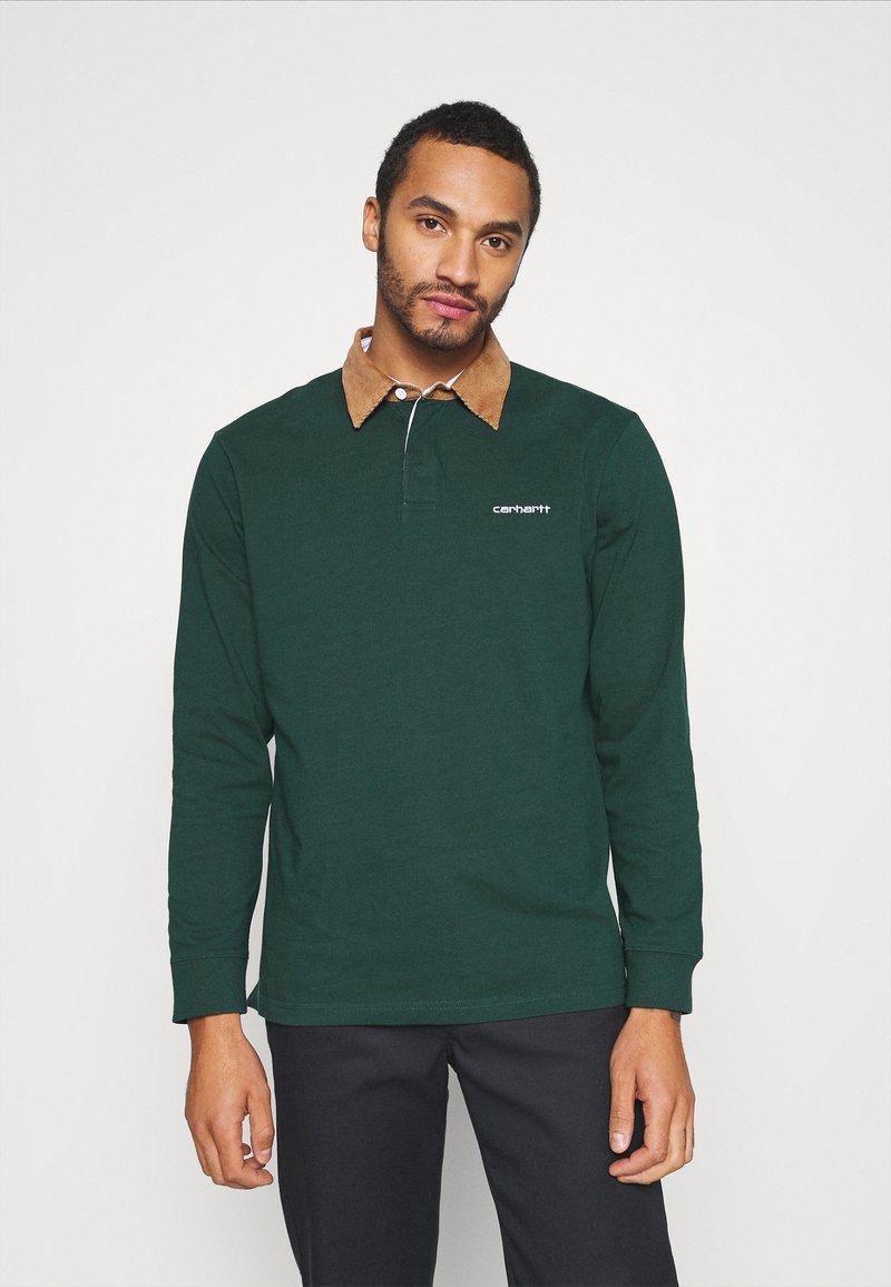 Carhartt WIP - RUGBY - Polo shirt - bottle green/hamilton brown/white