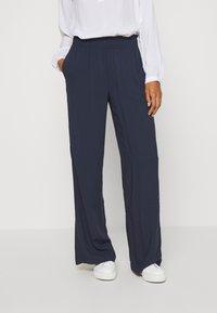 Esprit - FLOTY PANT - Pantalon classique - navy - 0