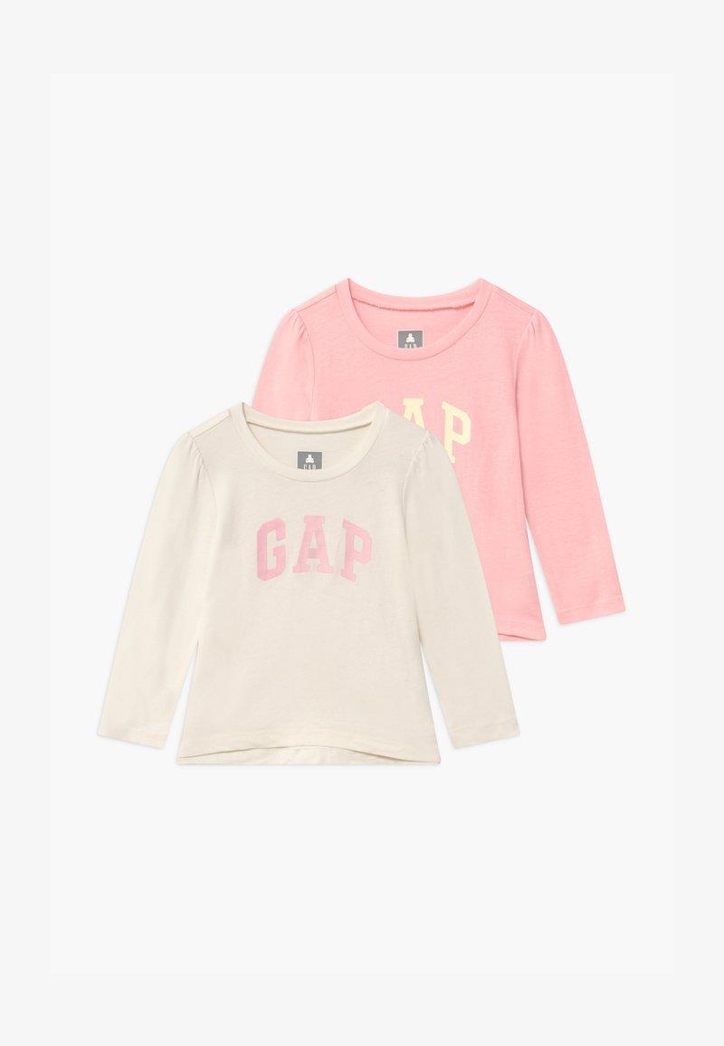 GAP - TODDLER GIRL LOGO 2 PACK - Top sdlouhým rukávem - light shell pink