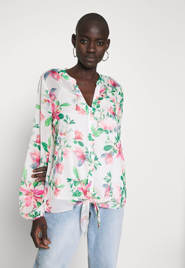 WATERLILY RUFFLE FRONT BLOUSE - Blouse - ivory