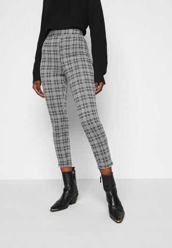 Leggings - Trousers - black  white