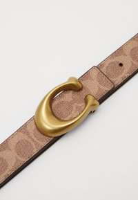Coach - SCULPTED REVERSIBLE SIGNATURE BELT - Belt - tan/rust - 4