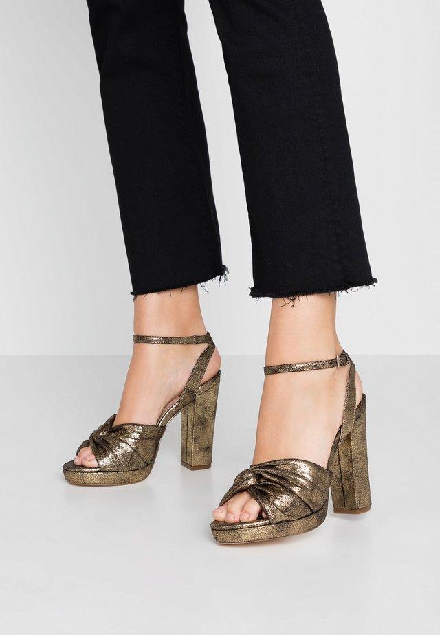 BOLLY TWIST PLATFORM - Sandály na vysokém podpatku - bronze