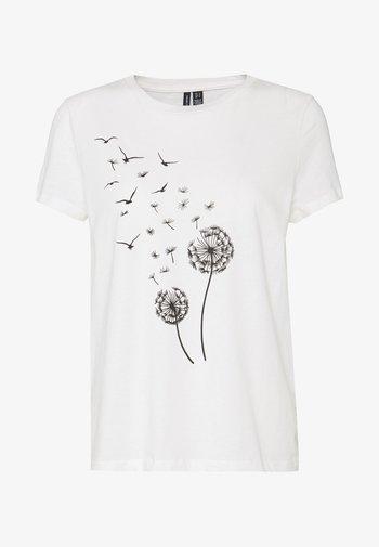 VMALMA DANDELOIN FRANCIS - T-shirt imprimé - snow white