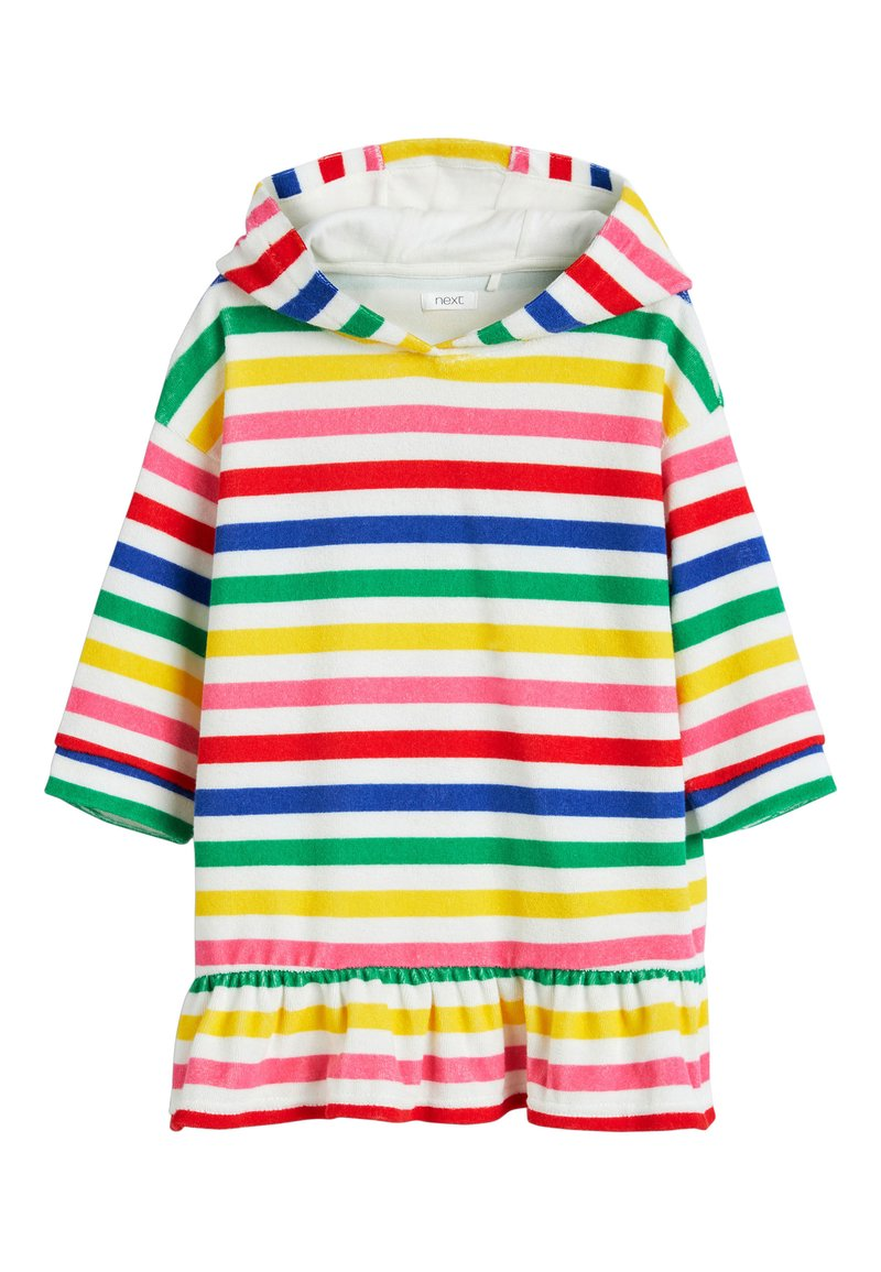 Next - MULTI STRIPE TOWEL DRESS - Župan - white