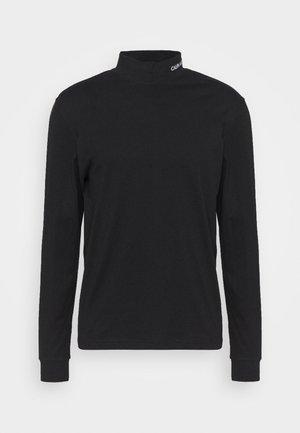 MOCK NECK TEE - Top sdlouhým rukávem - black