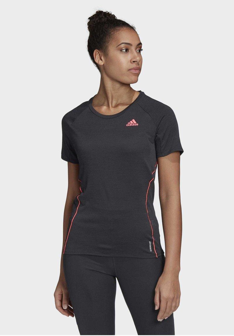 adidas Performance - ADI RUNNER PRIMEGREEN RUNNING - T-shirt print - Black
