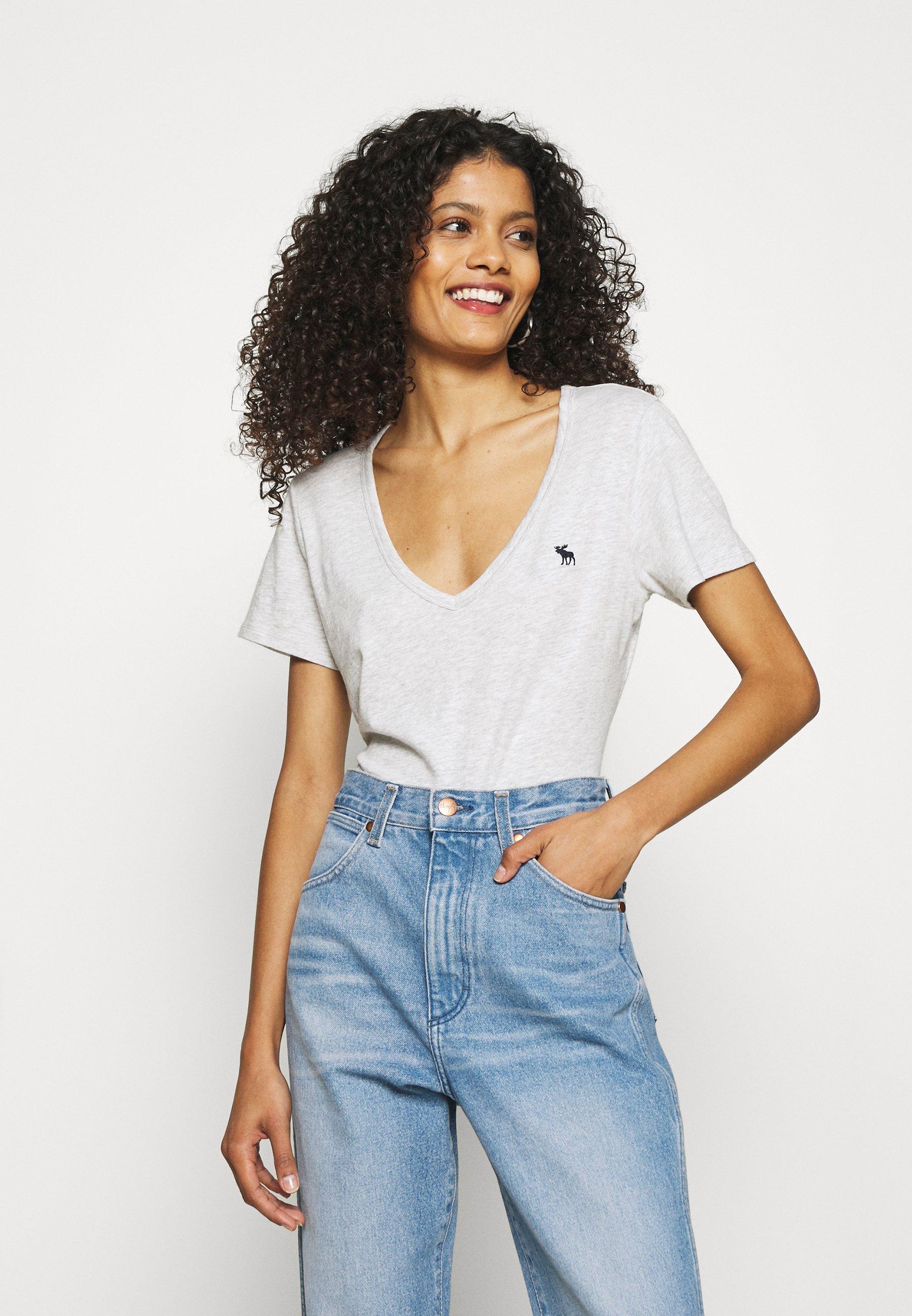 Damen ICON VNECK TEE - T-Shirt basic
