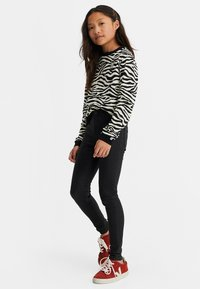 WE Fashion - SKINNY JEGGING - Broek - black - 0