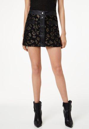 LIU JO JEANS - Mini skirt - black