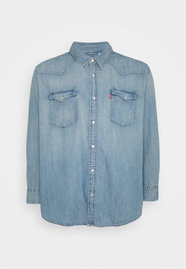 BIG BARSTOW WESTERN - Shirt - light-blue denim
