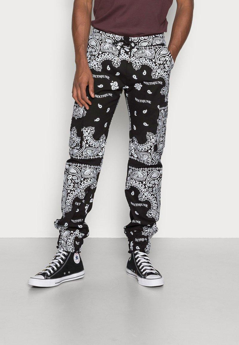 Sixth June - BANDANA PANTS - Cargo trousers - black