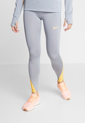FAST RUNWAY - Leggings - particle grey/laser orange