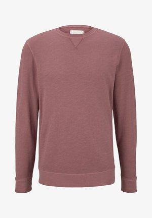 OVERDYED BASIC SWEATSHIRT - Sweater - wine rose pink