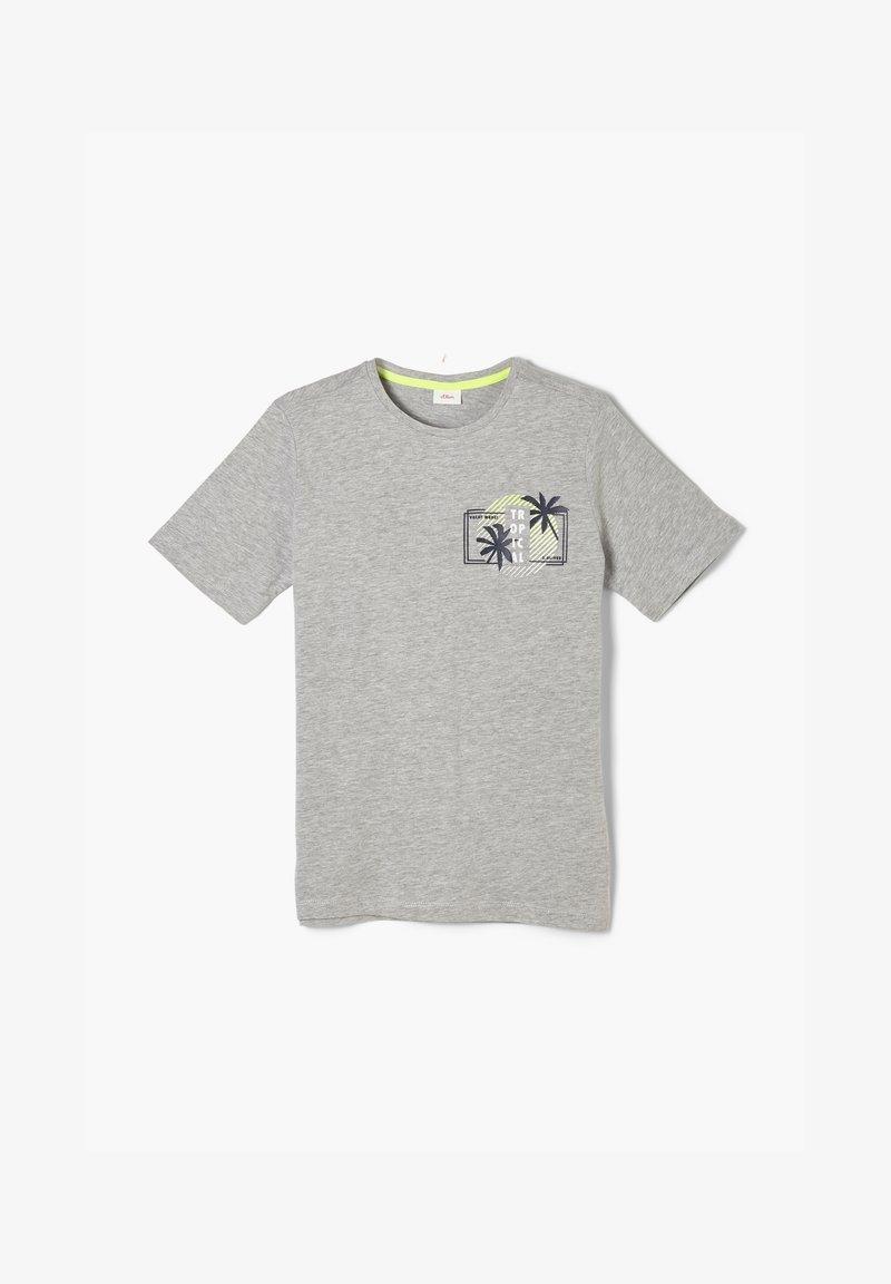 s.Oliver - MIT FRONTPRINT - T-shirt con stampa - grey melange