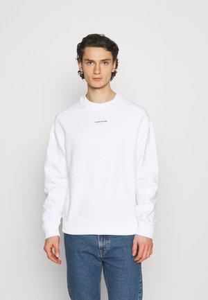 MICRO BRANDING UNISEX - Mikina - bright white