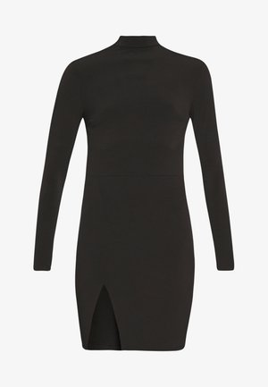 THIGH SPLIT DRESS - Etuikjole - black