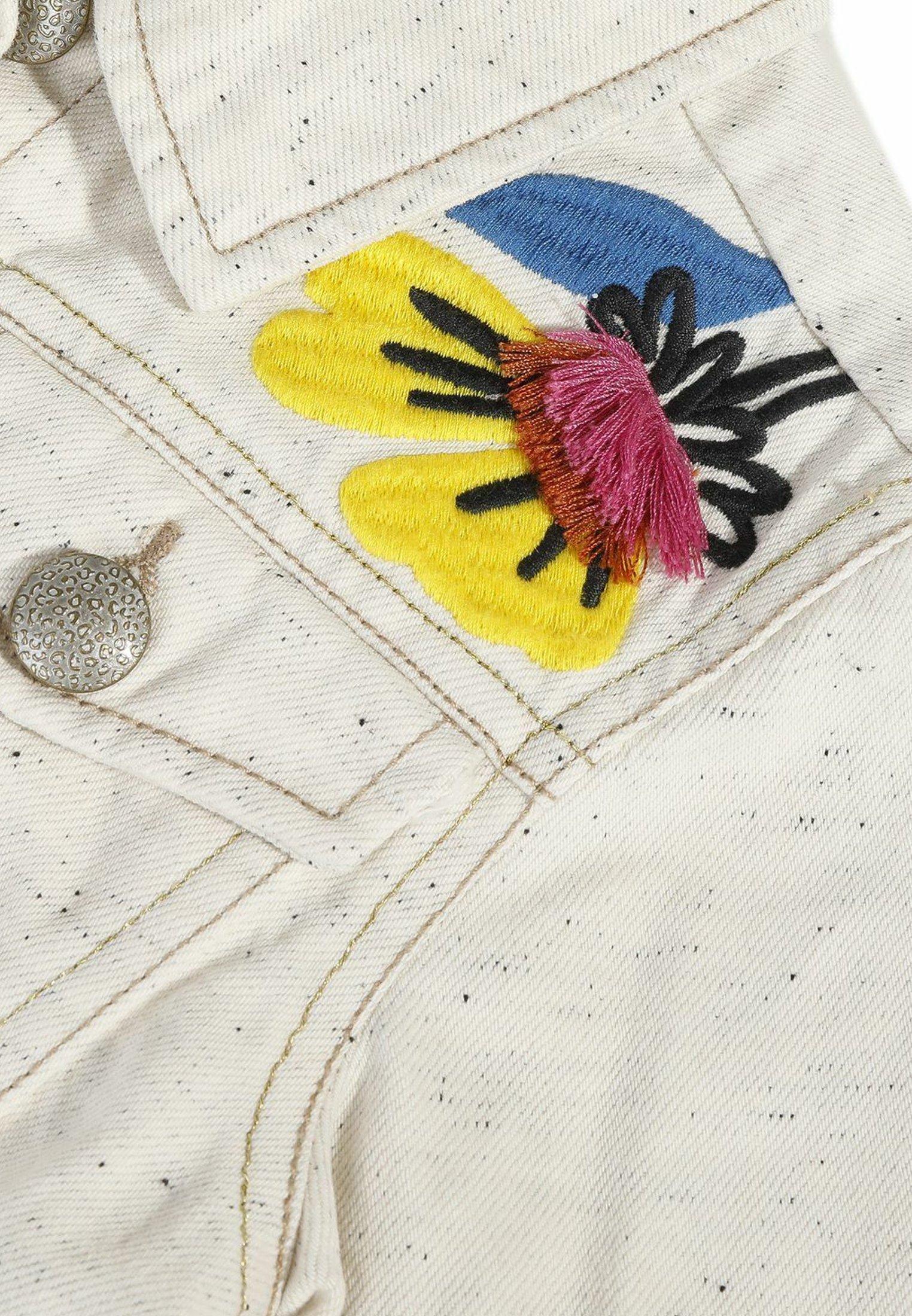 Catimini Kurtka jeansowa - beige - Ubranka dla dzieci