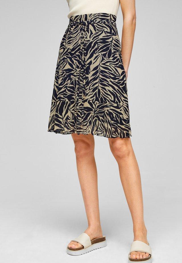 A-line skirt - light beige aop