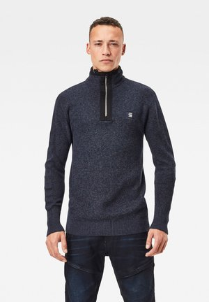 UTILITY CONSTRUCTED HALF ZIP - Jumper - sartho blue