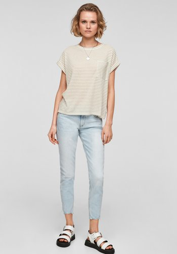 T-shirt con stampa - beige stripes