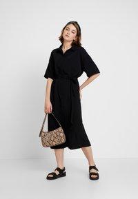 Monki - ELOISE DRESS - Skjortekjole - black - 1