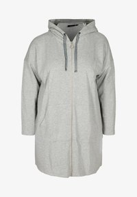 Zizzi - Zip-up hoodie - light grey - 3