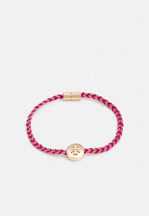 KIRA BRAIDED BRACELET - Bracelet - gold-coloured/ tuscan wine