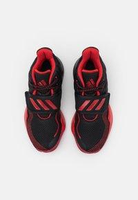adidas Performance - DEEP THREAT PRIMEBLUE BASKETBALL TEAM CLOUDFOAM SHOES UNISEX - Zapatillas de baloncesto - core black/vivid red - 3