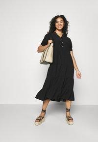 Forever New Curve - JADE CURVE TIERED SHIRT DRESS - Maxi dress - black - 1