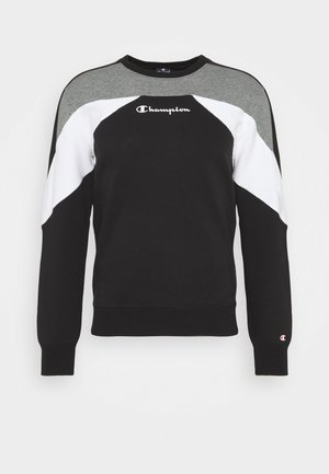 LEGACY MODULAR BLOCKING CREWNECK - Sweatshirt - black/white
