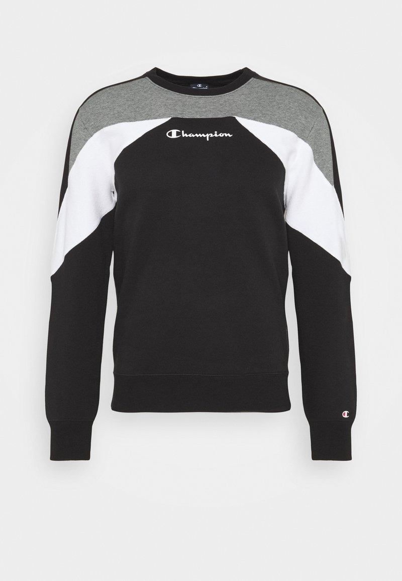 Champion - LEGACY MODULAR BLOCKING CREWNECK - Mikina - black/white