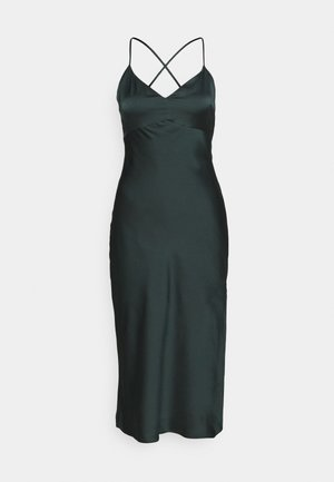 CROSS BACK MIDI DRESS  - Cocktail dress / Party dress - emerald green