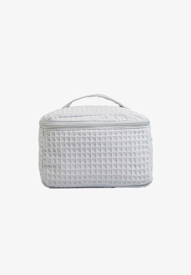 SQUARE WAFFLE - Kosmetická taška - blue