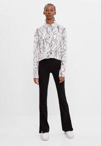 Bershka - Button-down blouse - dark grey - 1