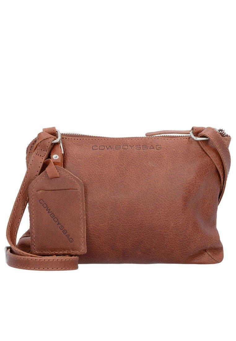 Cowboysbag - COWBOYSBAG BAG TIVERTON UMHÄNGETASCHE LEDER 24 CM - Across body bag - cognac