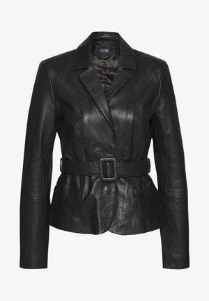 JAZLYN - Leather jacket - black