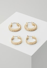 Pieces - PCNIELLA HOOP EARRINGS 2 PACK  - Náušnice - gold-coloured - 0