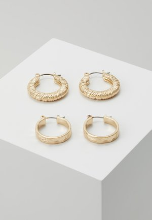 PCNIELLA HOOP EARRINGS 2 PACK  - Náušnice - gold-coloured