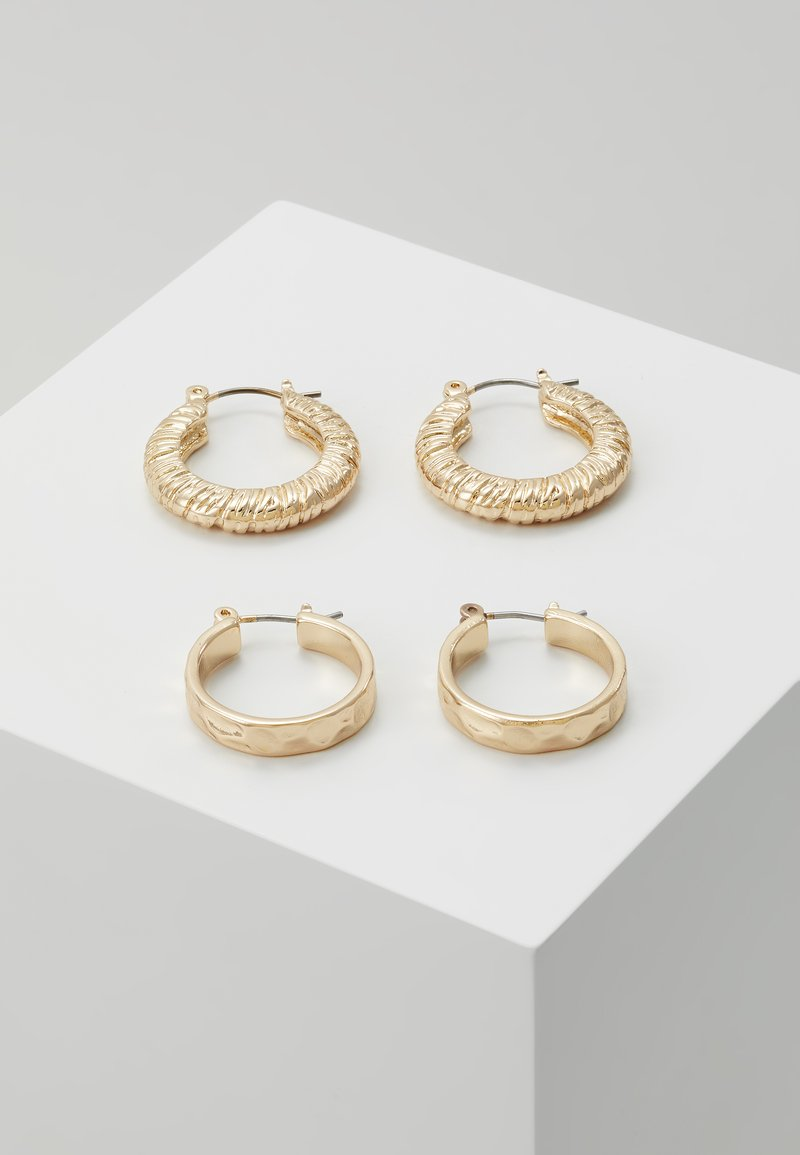 Pieces - PCNIELLA HOOP EARRINGS 2 PACK  - Náušnice - gold-coloured