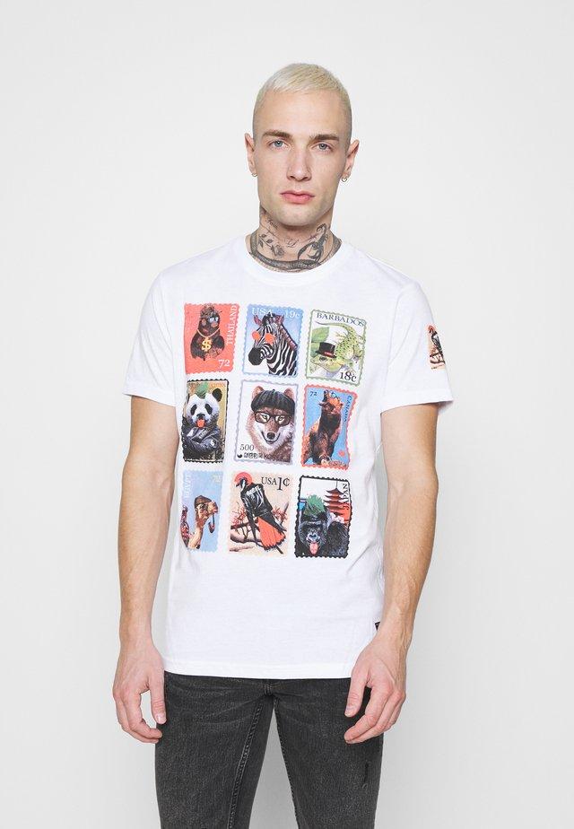 STAMPS - T-shirt imprimé - optic white/ multi-coloured