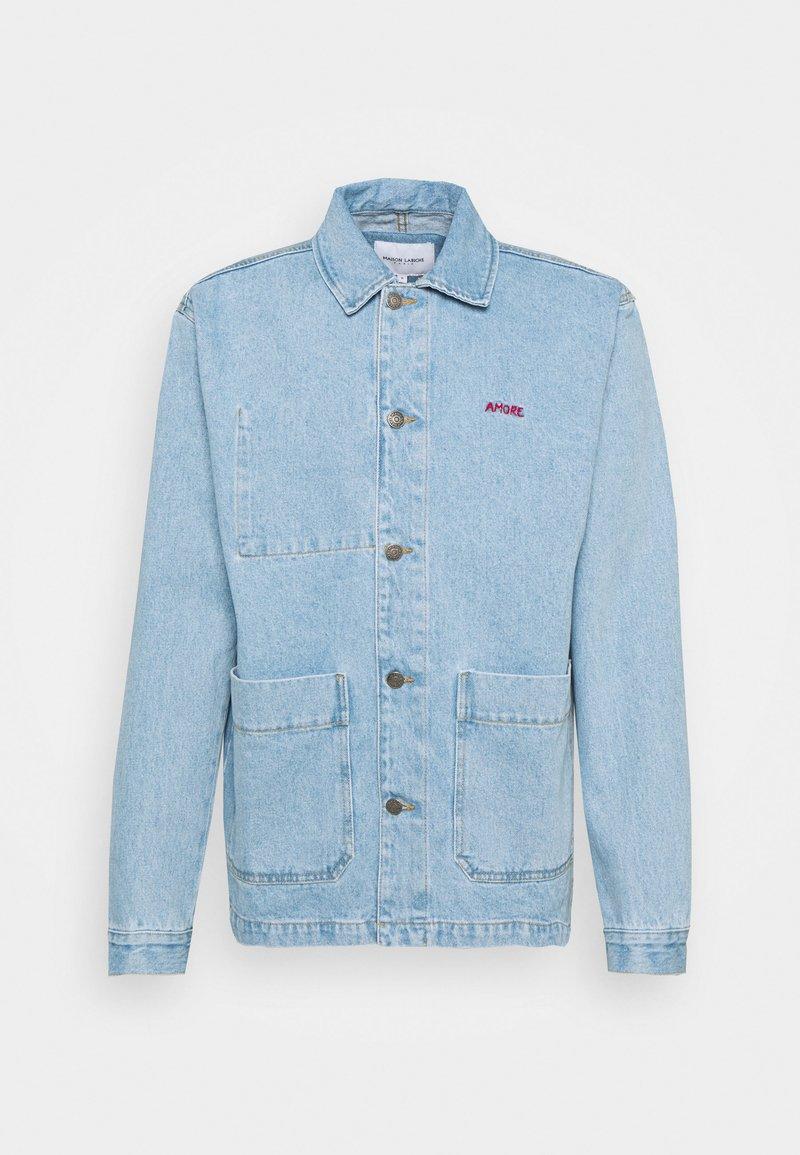 Maison Labiche - WORKER JACKET AMORE - Giacca di jeans - denim bleached