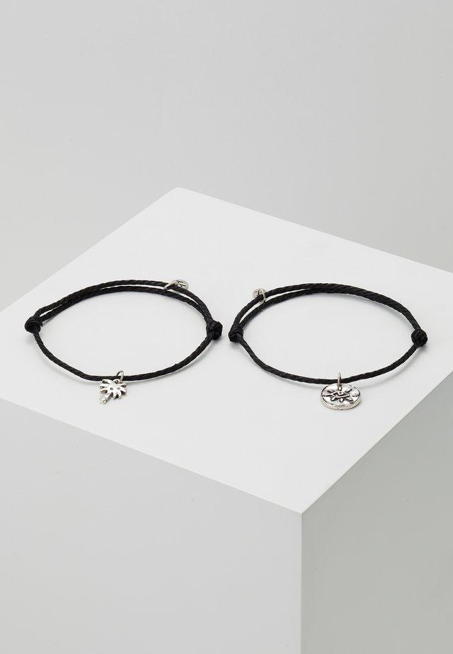 CHARM BRACELETS 2 PACK - Armband - black
