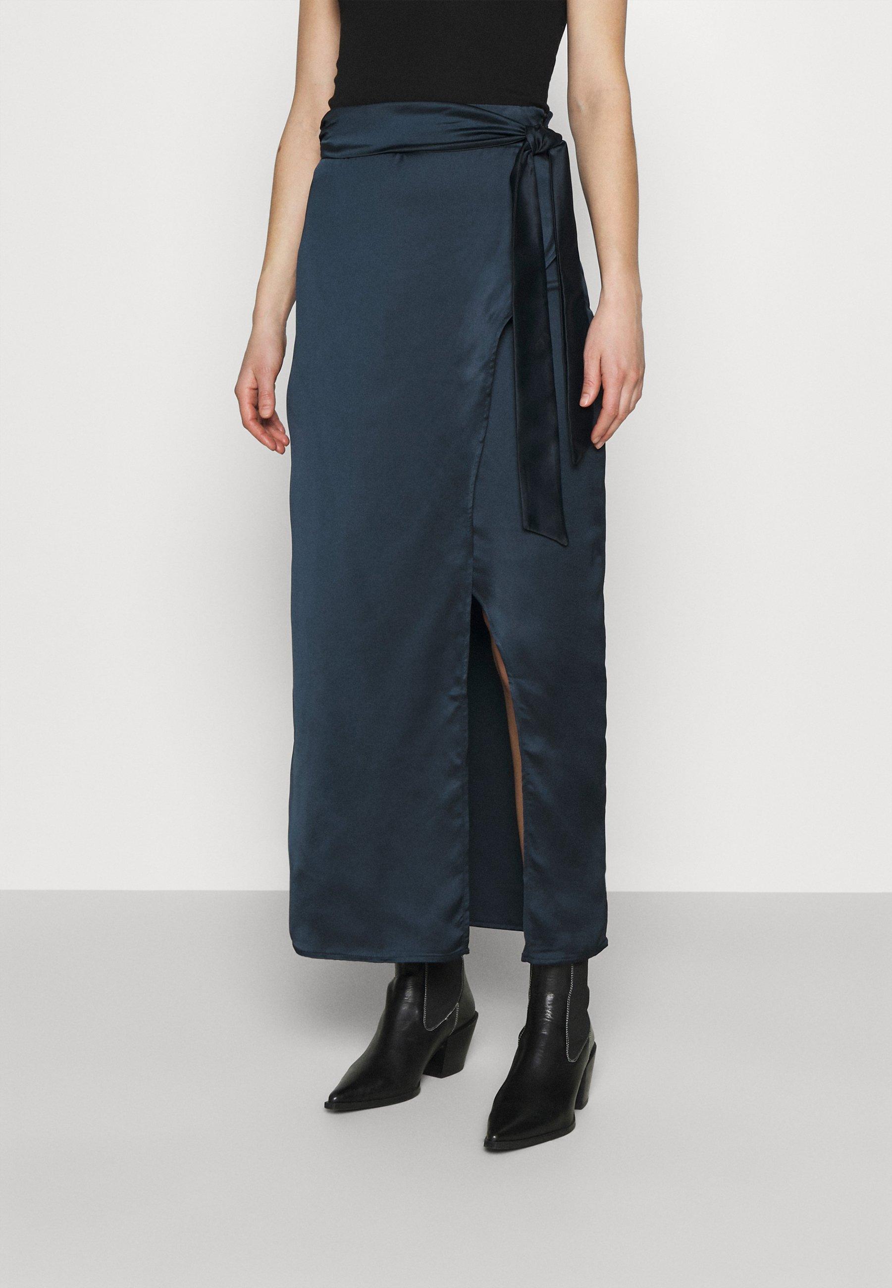 Women BELTED WARP MAXI SKIRT - Maxi skirt