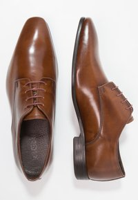 Zign - Elegantní šněrovací boty - tan - 1