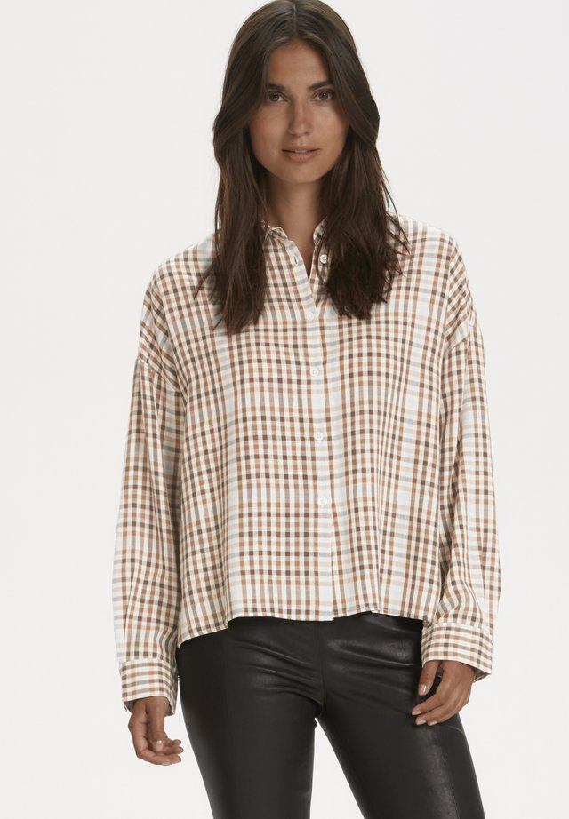 EJVINAPW  - Button-down blouse - small brown check