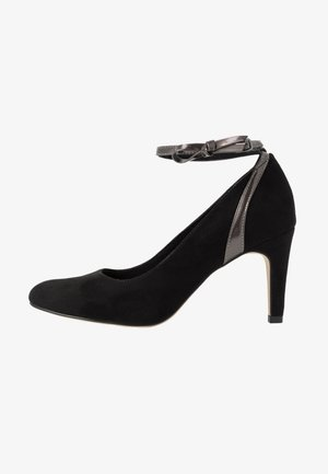 Classic heels - black/pewter metallic